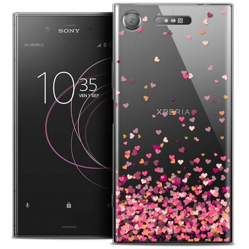 "Coque Crystal Gel Sony Xperia XZ1 (5.2"") Extra Fine Sweetie - Heart Flakes"