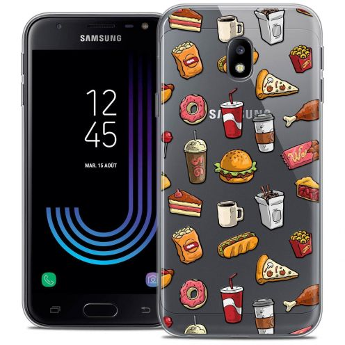"Coque Crystal Gel Samsung Galaxy J3 2017 J320 (5"") Extra Fine Foodie - Fast Food"