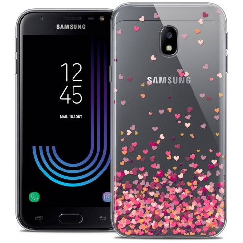 "Coque Crystal Gel Samsung Galaxy J3 2017 J320 (5"") Extra Fine Sweetie - Heart Flakes"