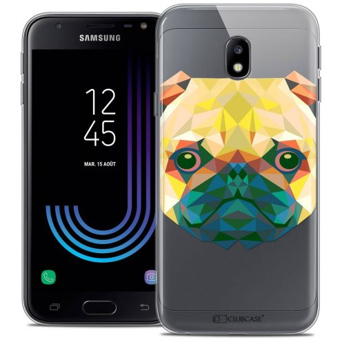 "Coque Crystal Gel Samsung Galaxy J3 2017 J320 (5"") Extra Fine Polygon Animals - Chien"