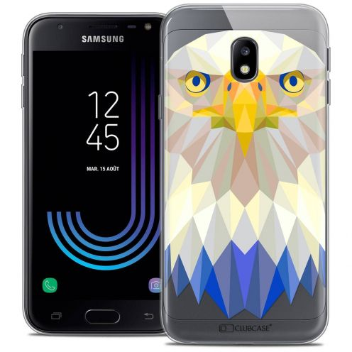 "Coque Crystal Gel Samsung Galaxy J3 2017 J320 (5"") Extra Fine Polygon Animals - Aigle"