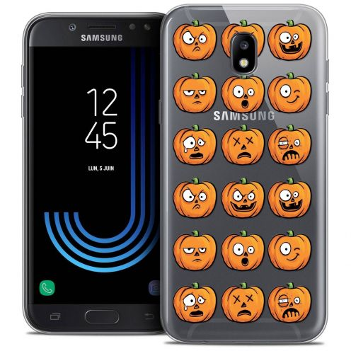 "Coque Crystal Gel Samsung Galaxy J7 2017 J730 (5.5"") Extra Fine Halloween - Cartoon Citrouille"