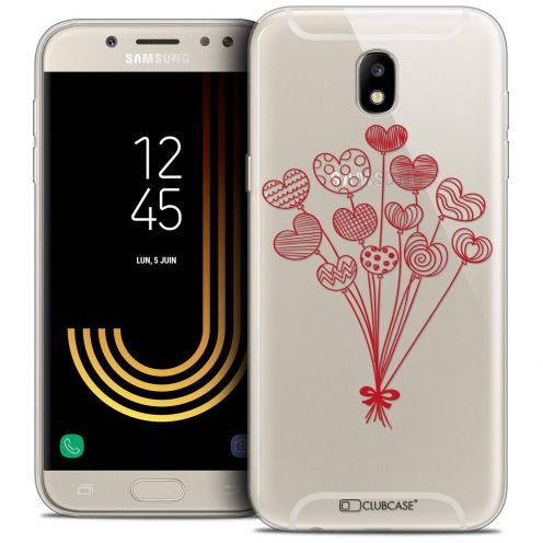 "Coque Crystal Gel Samsung Galaxy J7 2017 J730 (5.5"") Extra Fine Love - Ballons d'amour"