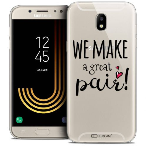 "Coque Crystal Gel Samsung Galaxy J7 2017 J730 (5.5"") Extra Fine Love - We Make Great Pair"