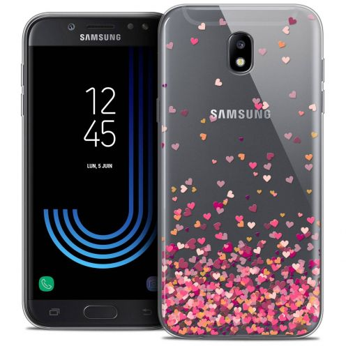 "Coque Crystal Gel Samsung Galaxy J7 2017 J730 (5.5"") Extra Fine Sweetie - Heart Flakes"