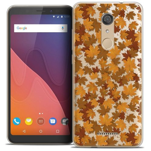 """Coque Crystal Gel Wiko View (5.7"""") Extra Fine Autumn 16 - Feuilles"""