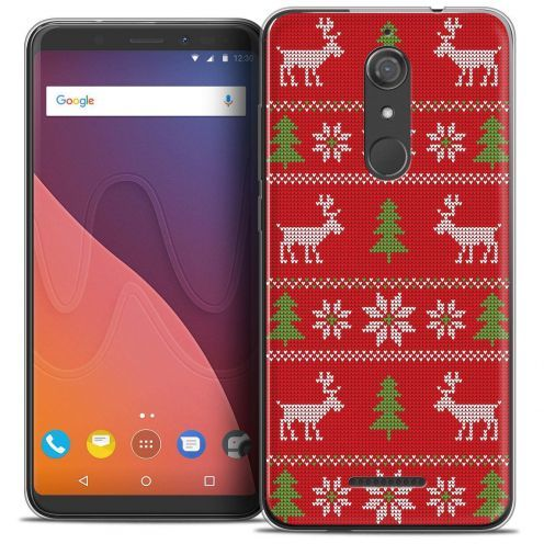 """Coque Crystal Gel Wiko View (5.7"""") Extra Fine Noël 2017 - Couture Rouge"""