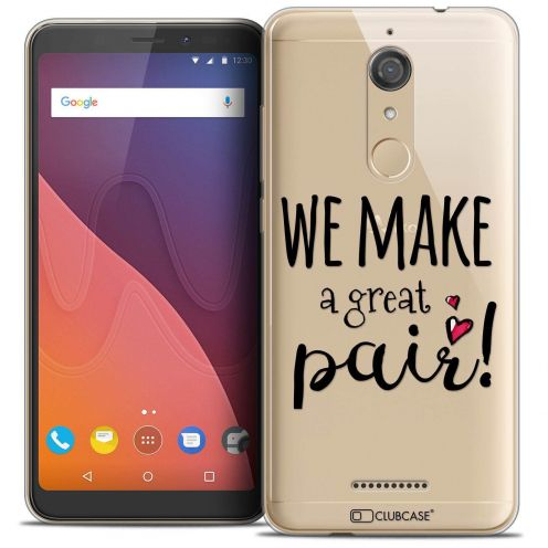 """Coque Crystal Gel Wiko View (5.7"""") Extra Fine Love - We Make Great Pair"""