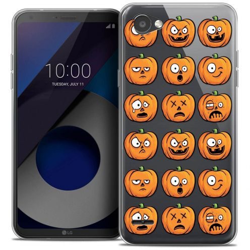 "Coque Crystal Gel LG Q6 (5.5"") Extra Fine Halloween - Cartoon Citrouille"