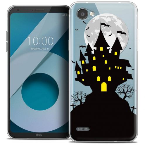 "Coque Crystal Gel LG Q6 (5.5"") Extra Fine Halloween - Castle Scream"