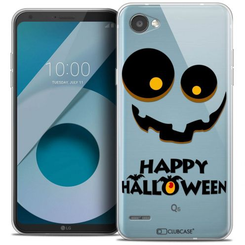"Coque Crystal Gel LG Q6 (5.5"") Extra Fine Halloween - Happy"