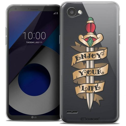 "Coque Crystal Gel LG Q6 (5.5"") Extra Fine Tatoo Lover - Enjoy Life"