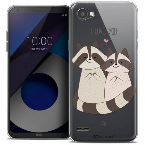 "Coque Crystal Gel LG Q6 (5.5"") Extra Fine Sweetie - Racoon Love"