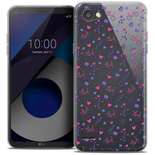 "Coque Crystal Gel LG Q6 (5.5"") Extra Fine Love - Bicycle"