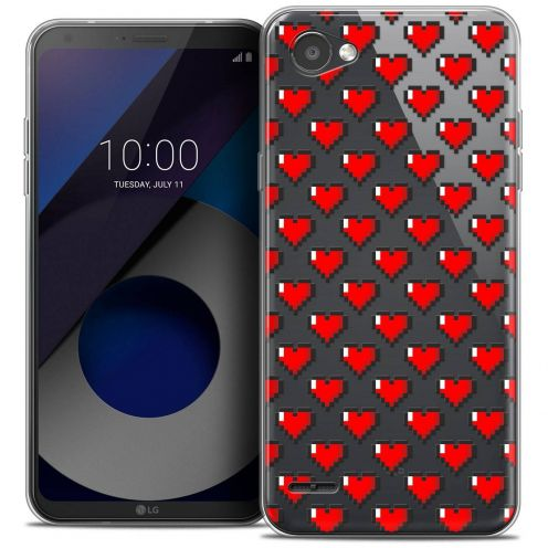 "Coque Crystal Gel LG Q6 (5.5"") Extra Fine Love - Pixel Art"