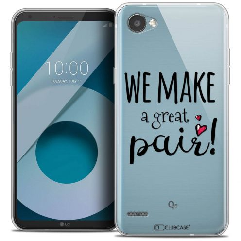 "Coque Crystal Gel LG Q6 (5.5"") Extra Fine Love - We Make Great Pair"