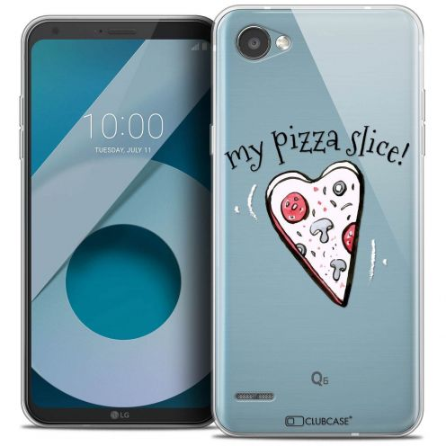 "Coque Crystal Gel LG Q6 (5.5"") Extra Fine Love - My Pizza Slice"