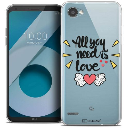 "Coque Crystal Gel LG Q6 (5.5"") Extra Fine Love - All U Need Is"