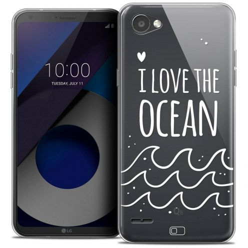 "Coque Crystal Gel LG Q6 (5.5"") Extra Fine Summer - I Love Ocean"