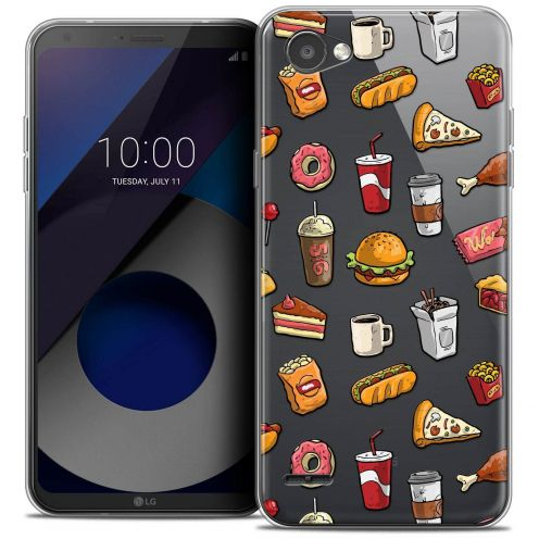 "Coque Crystal Gel LG Q6 (5.5"") Extra Fine Foodie - Fast Food"