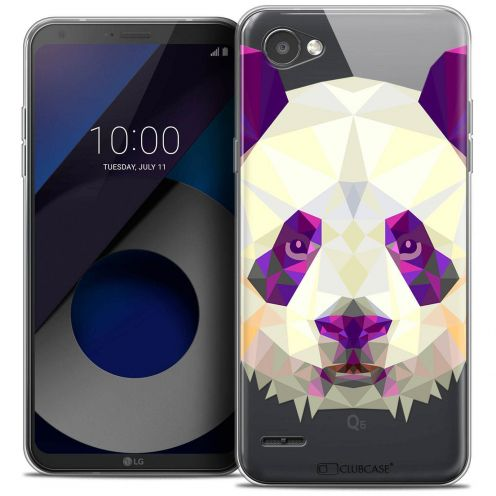 "Coque Crystal Gel LG Q6 (5.5"") Extra Fine Polygon Animals - Panda"