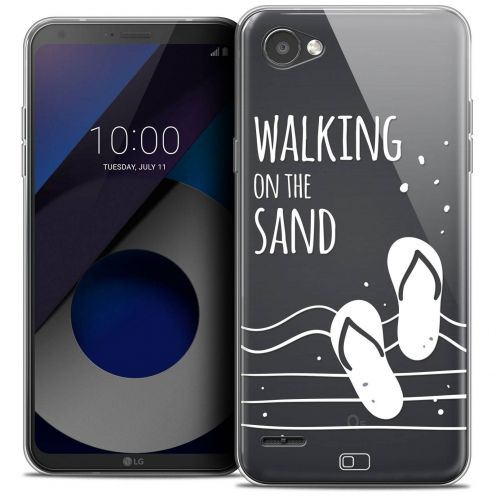 "Coque Crystal Gel LG Q6 (5.5"") Extra Fine Summer - Walking on the Sand"