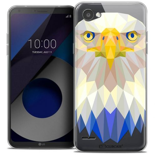 "Coque Crystal Gel LG Q6 (5.5"") Extra Fine Polygon Animals - Aigle"