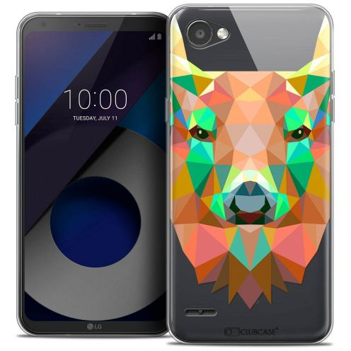 "Coque Crystal Gel LG Q6 (5.5"") Extra Fine Polygon Animals - Cerf"