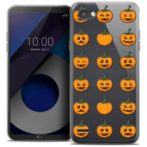"Coque Crystal Gel LG Q6 (5.5"") Extra Fine Halloween - Smiley Citrouille"