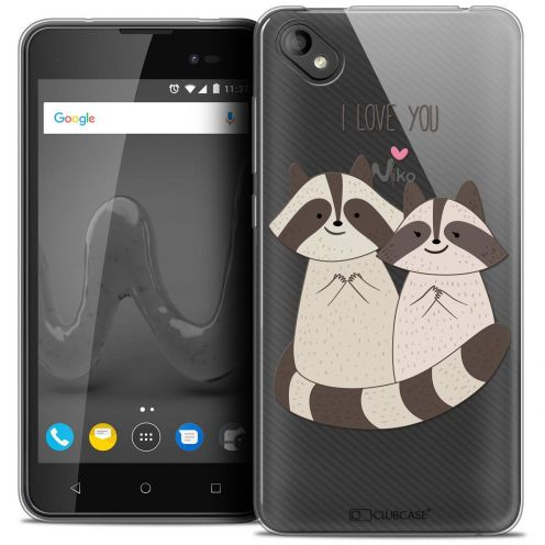 "Coque Crystal Gel Wiko Sunny 2 PLUS (5"") Extra Fine Sweetie - Racoon Love"