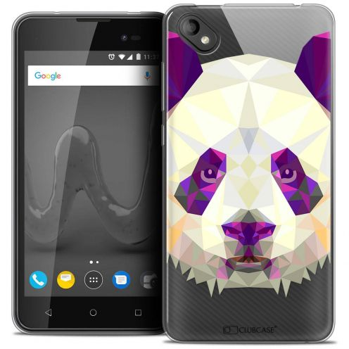 "Coque Crystal Gel Wiko Sunny 2 PLUS (5"") Extra Fine Polygon Animals - Panda"