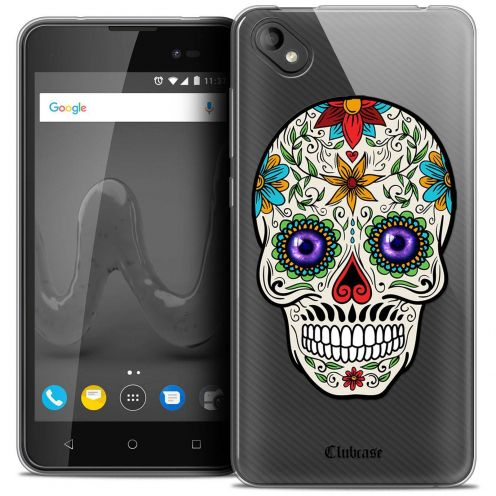 "Extra Slim Crystal Gel Wiko Sunny 2 PLUS (5"") Case Skull Maria's Flower"