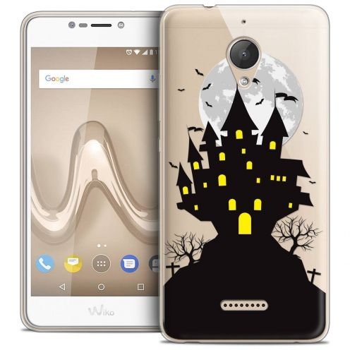 "Coque Crystal Gel Wiko Tommy 2 PLUS (5.5"") Extra Fine Halloween - Castle Scream"