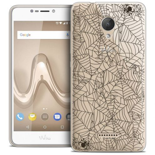 "Coque Crystal Gel Wiko Tommy 2 PLUS (5.5"") Extra Fine Halloween - Spooky Spider"