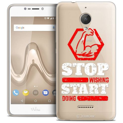 "Coque Crystal Gel Wiko Tommy 2 PLUS (5.5"") Extra Fine Quote - Start Doing"