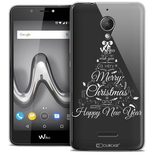 """Coque Crystal Gel Wiko Tommy 2 PLUS (5.5"""") Extra Fine Noël 2017 - Calligraphie"""