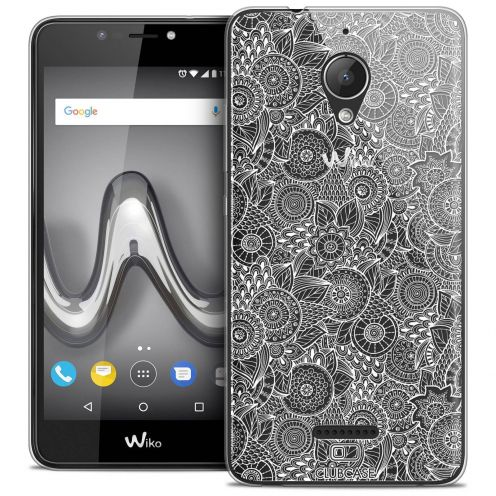 """Coque Crystal Gel Wiko Tommy 2 PLUS (5.5"""") Extra Fine Dentelle Florale - Blanc"""