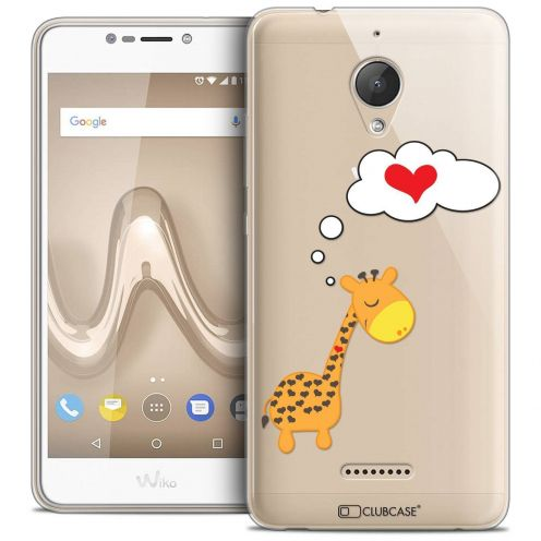 "Coque Crystal Gel Wiko Tommy 2 PLUS (5.5"") Extra Fine Love - Girafe Amoureuse"