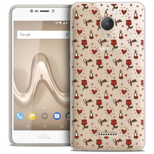 """Coque Crystal Gel Wiko Tommy 2 PLUS (5.5"""") Extra Fine Love - Bougies et Roses"""