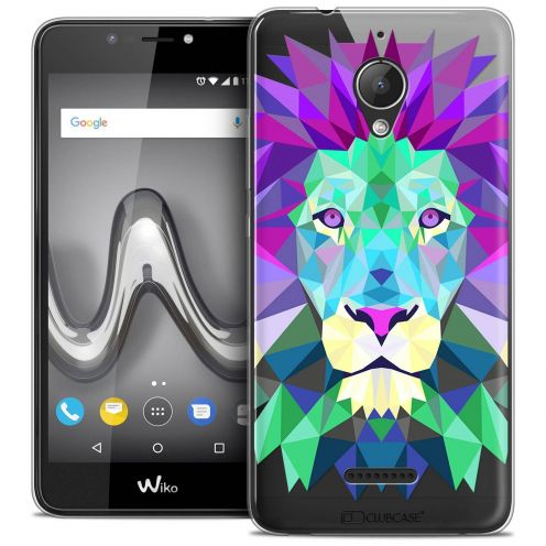 """Coque Crystal Gel Wiko Tommy 2 PLUS (5.5"""") Extra Fine Polygon Animals - Lion"""
