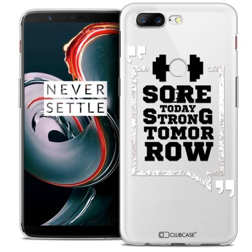 """Extra Slim Crystal Gel OnePlus 5T (6"""") Case Quote Strong Tomorrow"""