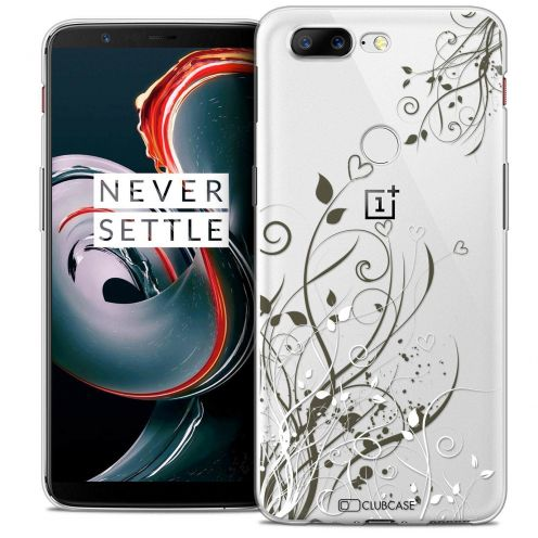"""Coque Crystal Gel OnePlus 5T (6"""") Extra Fine Love - Hearts Flowers"""