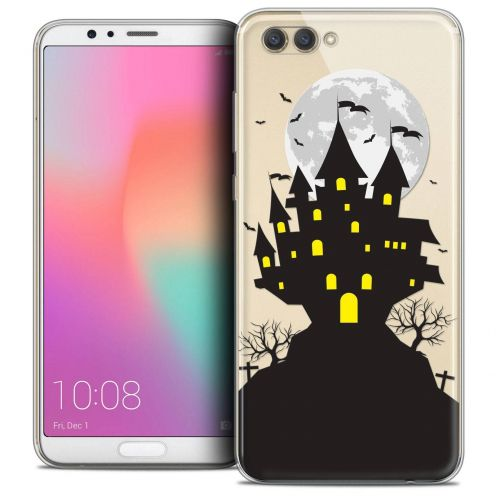 "Coque Crystal Gel Honor View 10 / V10 (6"") Extra Fine Halloween - Castle Scream"