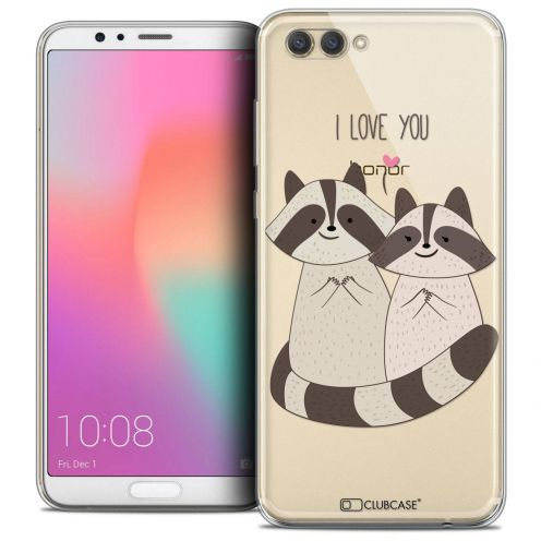 "Coque Crystal Gel Honor View 10 / V10 (6"") Extra Fine Sweetie - Racoon Love"