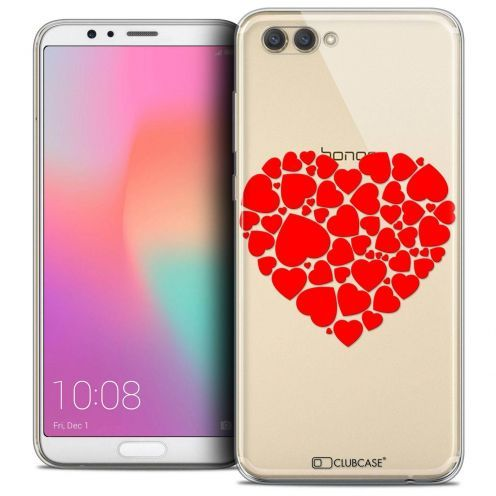 "Coque Crystal Gel Honor View 10 / V10 (6"") Extra Fine Love - Coeur des Coeurs"