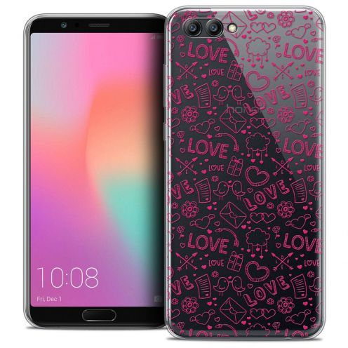 "Coque Crystal Gel Honor View 10 / V10 (6"") Extra Fine Love - Doodle"