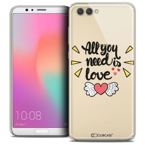 "Coque Crystal Gel Honor View 10 / V10 (6"") Extra Fine Love - All U Need Is"