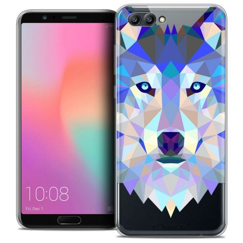 "Coque Crystal Gel Honor View 10 / V10 (6"") Extra Fine Polygon Animals - Loup"