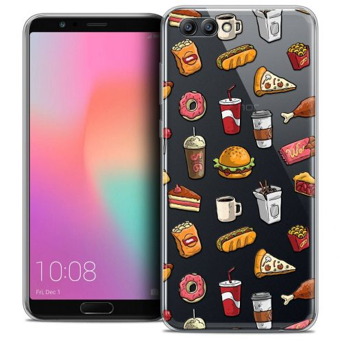 "Coque Crystal Gel Honor View 10 / V10 (6"") Extra Fine Foodie - Fast Food"
