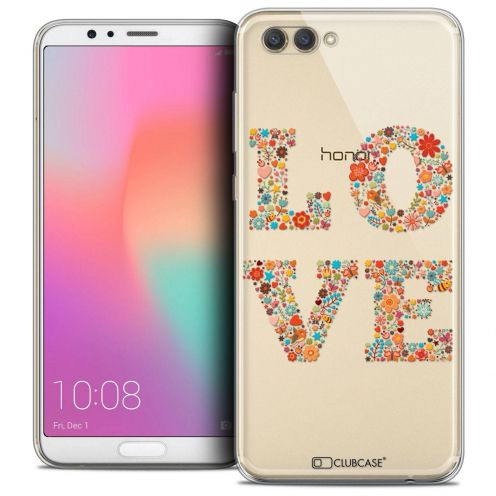 "Coque Crystal Gel Honor View 10 / V10 (6"") Extra Fine Summer - Love Flowers"